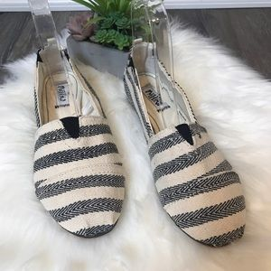 Mad Love Lydia Striped Knit Loafers Slip On Flats